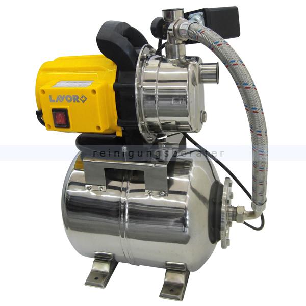 Wasserpumpe Lavor Hauswasserwerk EG-MS 3800 mit INOX Pumpenkopf & Druckbehälter, Schmutzwasser geeignet 0.013.0108