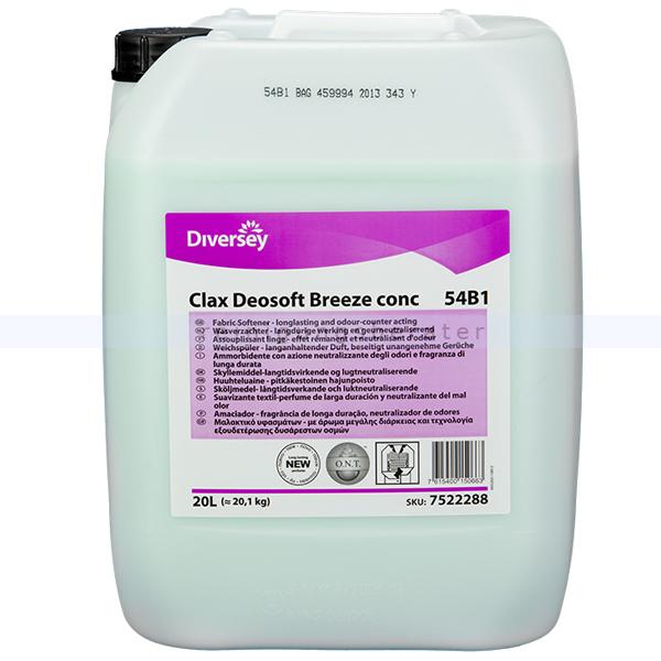 Diversey Clax Deosoft Breeze Conc 54B1 W87 20 L Wäscheweichspüler auf Basis von biologischen Tenside