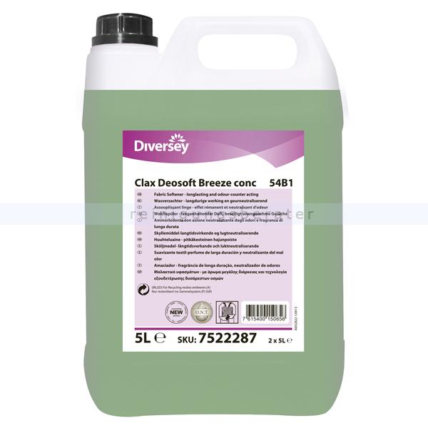 Diversey Clax Deosoft Breeze Conc 54B1 W87 5 L Wäscheweichspüler auf Basis von biologischen Tenside