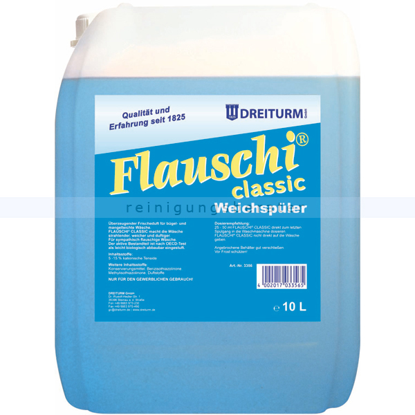Weichspüler Dreiturm Flauschi classic 10 L Weichspüler für flauschige Wäsche 3356