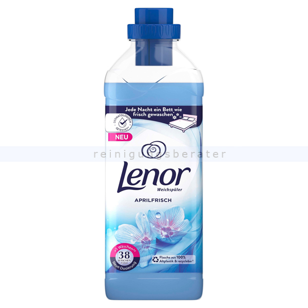 Procter and Gamble Weichspüler P&G Lenor Aprilfrisch 950 ml 38 WL, gegen Formverlust, Farbverlust und Fusselbildung LE3982