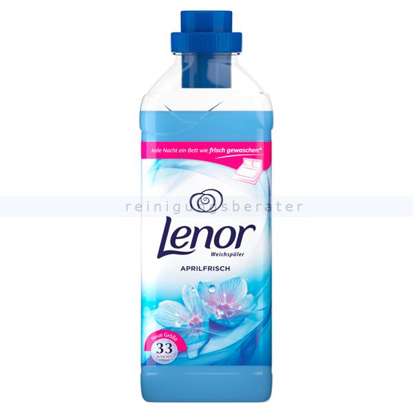Procter and Gamble Weichspüler P&G Lenor Aprilfrisch 990 ml 33 WL, gegen Formverlust, Farbverlust und Fusselbildung LE1646