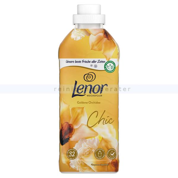 Procter and Gamble Weichspüler P&G Lenor Goldene Orchidee Flasche 800 ml 32 WL, gegen Formverlust, Farbverlust und Fusselbildung LE3678