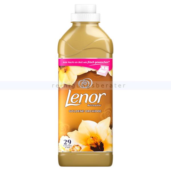 Procter and Gamble Weichspüler P&G Lenor Goldene Orchidee Flasche 870 ml 29 WL, gegen Formverlust, Farbverlust und Fusselbildung LE6338