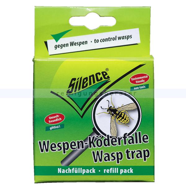 Schopf Hygiene Schopf Silence Wespen Lockstoff im 3er Pack für Köderfalle Nachfüllpack für die Wespen Köderfalle, Wespenfalle 302179