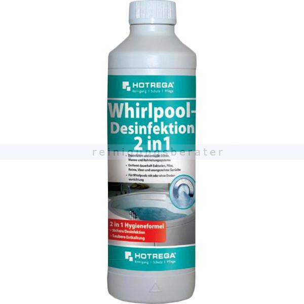 Whirlpooldesinfektion Hotrega 2 in 1 500 ml sichere Desinfektion und zuverlässige Entkalkung H150200