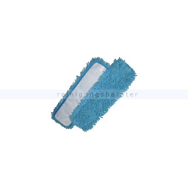 ReinigungsBerater Wischmop Mikrofaserfransenmop Rasta 44 x 13 cm, blau für Nass- und Trockenreinigung 460.200.200