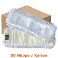 Wischmop MopKnight Mikrofaser Schlinge 40 cm weiß Karton