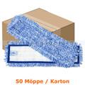 Wischmop MopKnight Tritex Klett Mop weiß blau 40 cm Karton