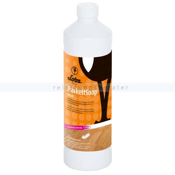 Wischpflege Holzseife LOBA® ParkettSoap weiß 1 L Reinigungs- und Pflegeseife für geölte u.gewachste Holzböden 100489-15