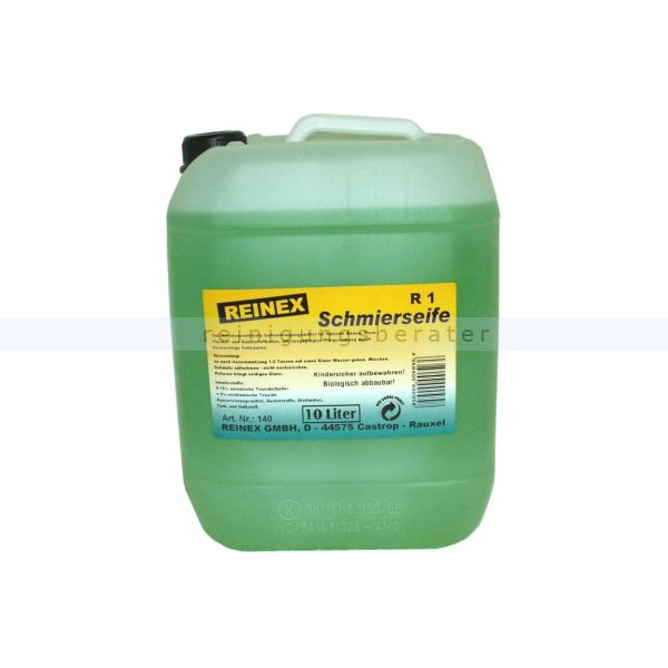 Wischpflege Reinex R1 Flüssige Schmierseife 10 L Universelle umweltverträgliche Bodenpflege 140