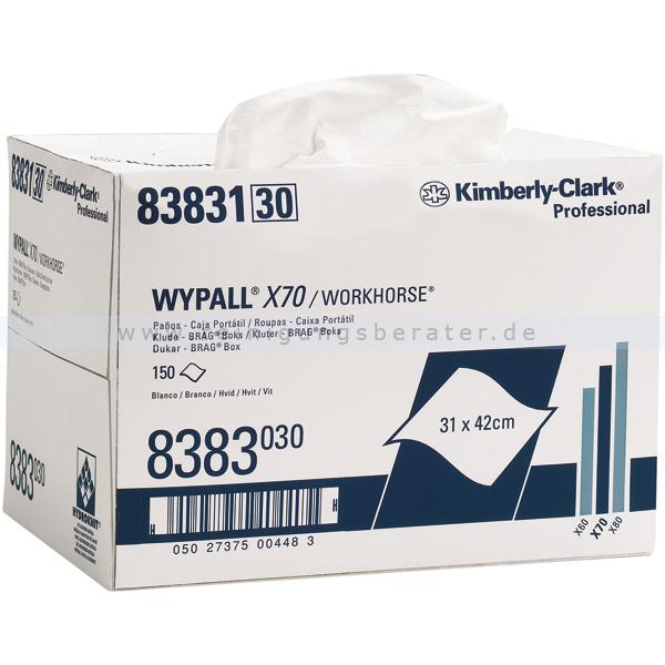 Wischtuch Kimberly Clark WYPALL X70 BRAG Box Weiß 8383