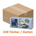 Wischtuch Tork Reinigungstücher 420 Stk. blau 35,5 x 41,5 cm