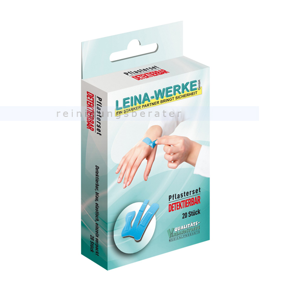 Leina Werke Wundpflaster Leina Pflasterset Detektierbar mit verschiedenen Arten von Pflastern 75404