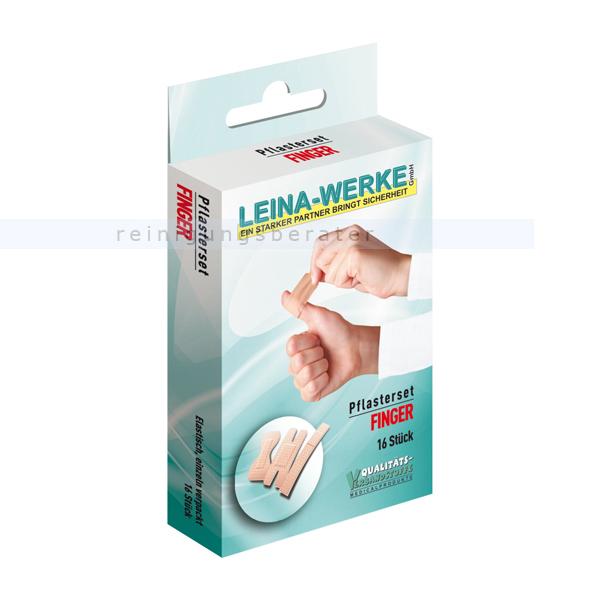 Leina Werke Wundpflaster Leina Pflasterset Finger mit verschiedenen Arten von Pflastern 75403