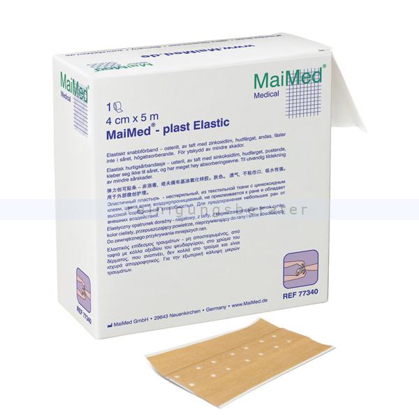 Wundpflaster MaiMed plast Elastic 4 cm x 5m 1 Stück/Box gebrauchsfertiger, hautfarbener, querelastischer 77340