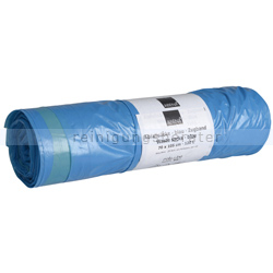 Zugband Müllsäcke blau 120 L 38 my (Typ 60), 25 Stück/Rolle